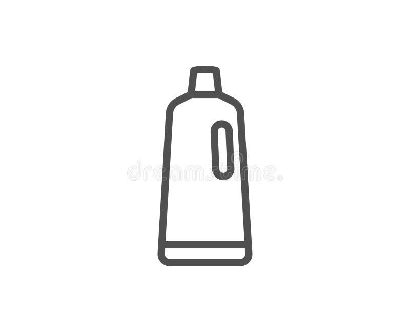 Cleaning szamponu linii ikona Płuczkowy ciecz ilustracja wektor