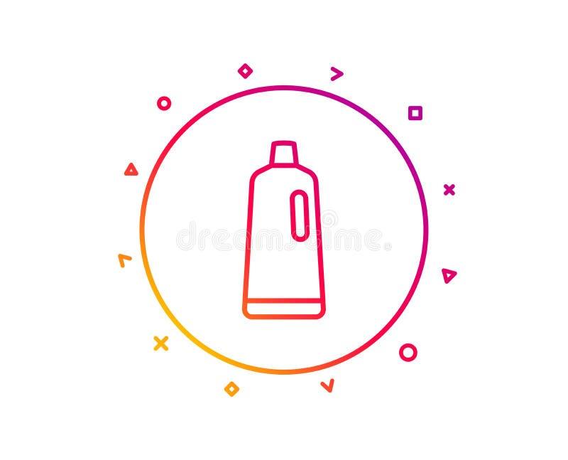 Cleaning szamponu linii ikona Płuczkowy ciecz wektor ilustracji
