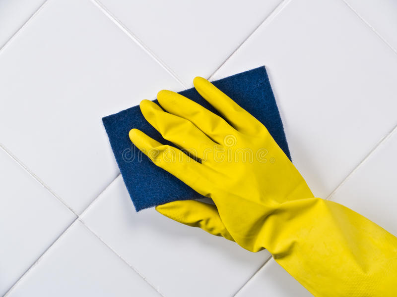 Cleaning tile stock images