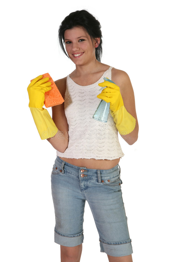 Download Cleaning Time stock photo. Image of jeans, duties, playful - 3427248