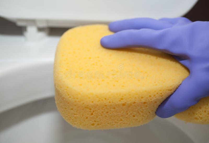 cleaning toaleta obraz stock