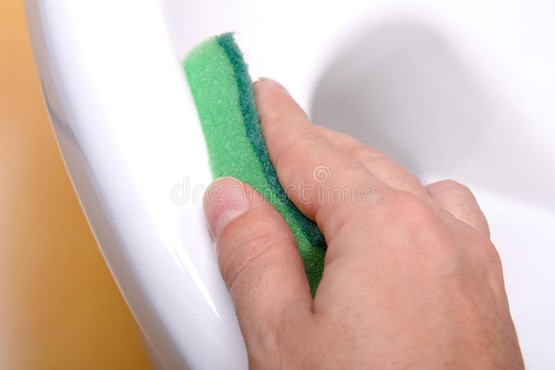 Download Cleaning Toilet Bowl Stock Images - Image: 12666054