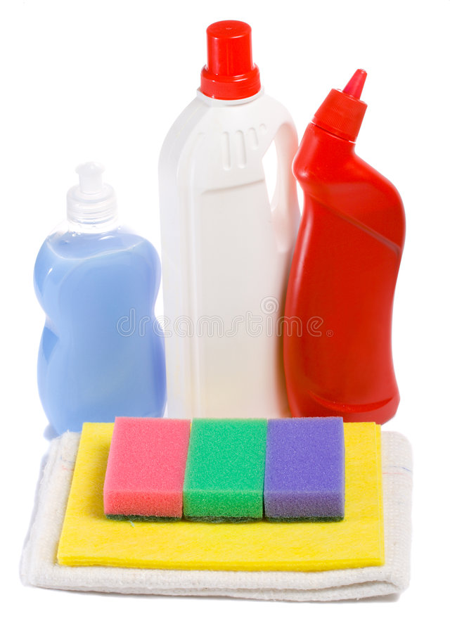 Cleaning tool kit royalty free stock images