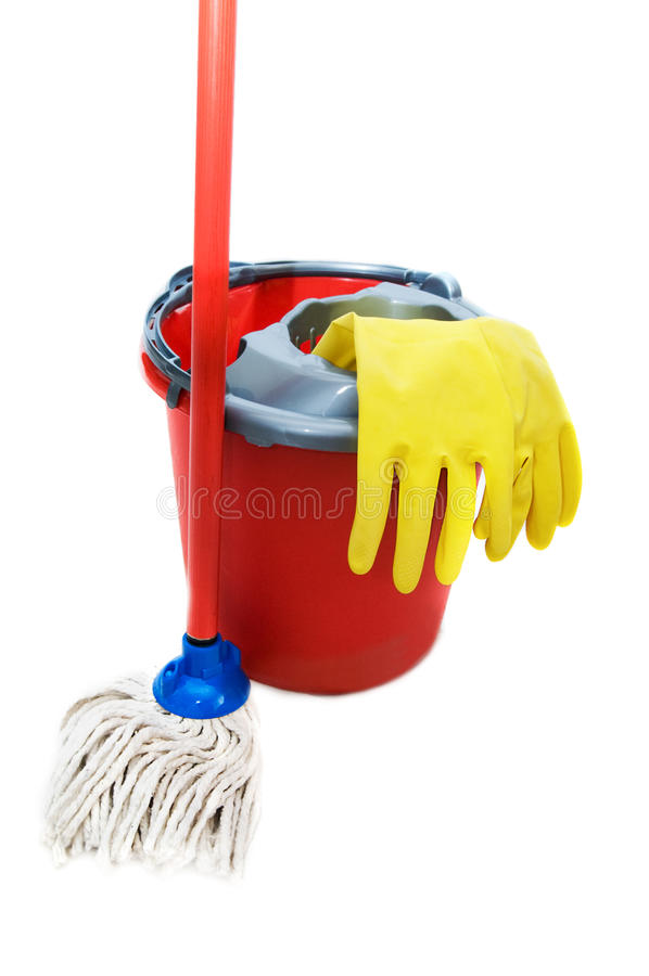 Free Cleaning Tools Royalty Free Stock Photo - 14542355