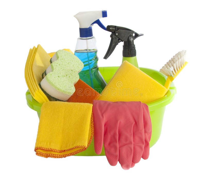 Cleaning tools royalty free stock image