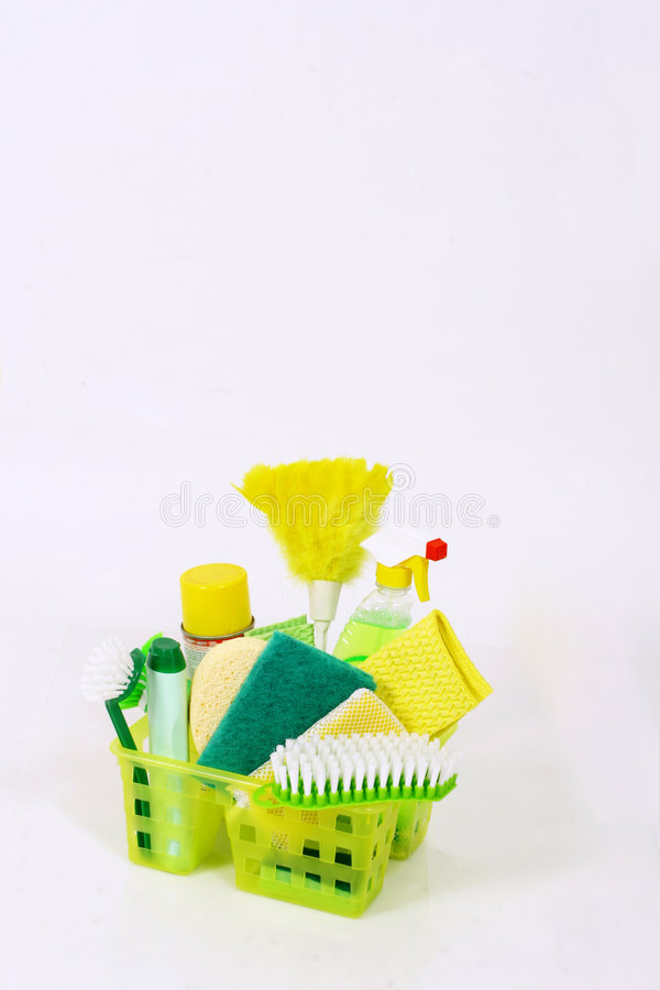 Cleaning tools stock image