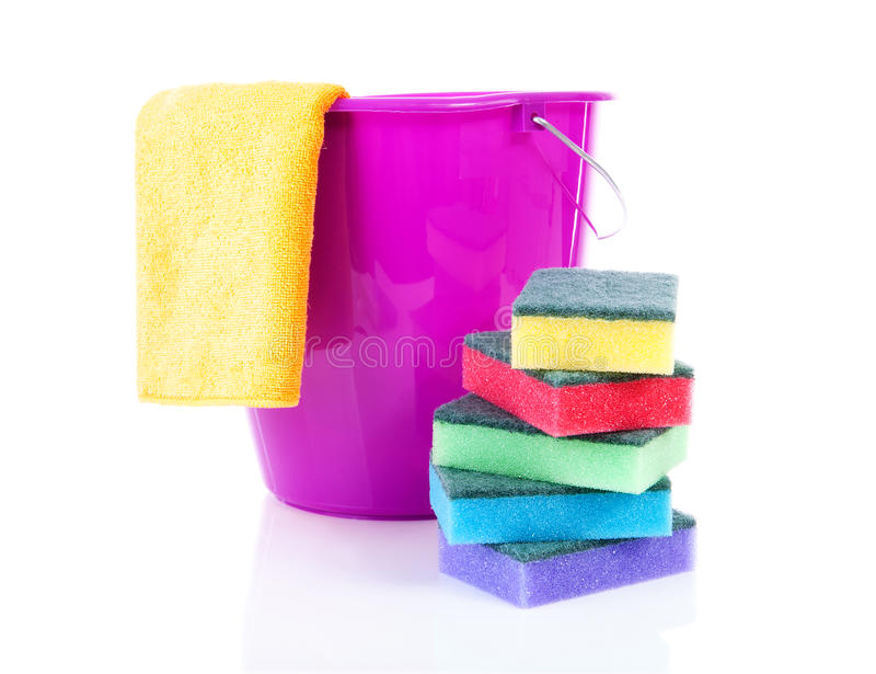 Cleaning utensils royalty free stock images