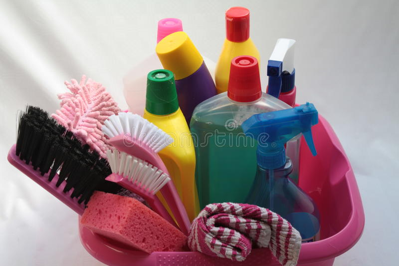 Cleaning utilities royalty free stock photos