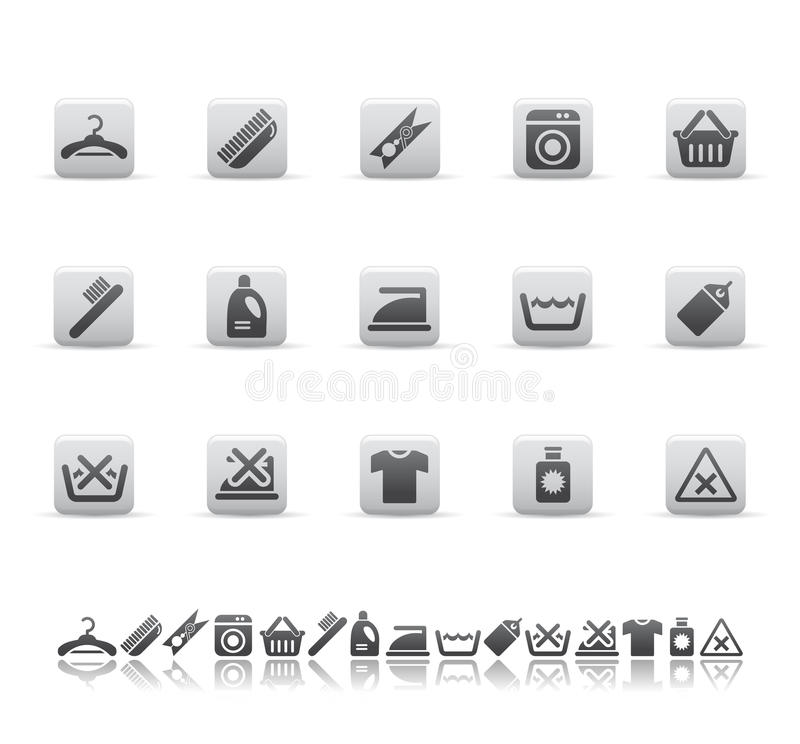 Cleaning and washing icons. Vector illustration of icons cleaning and washing vector illustration