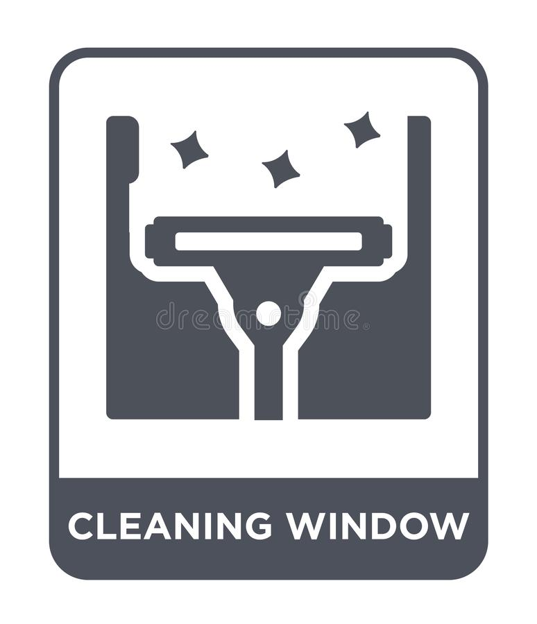 cleaning window icon in trendy design style. cleaning window icon isolated on white background. cleaning window vector icon simple vector illustration