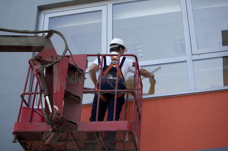 Download Cleaning Windows With Machine Stock Photo - Image: 25009930