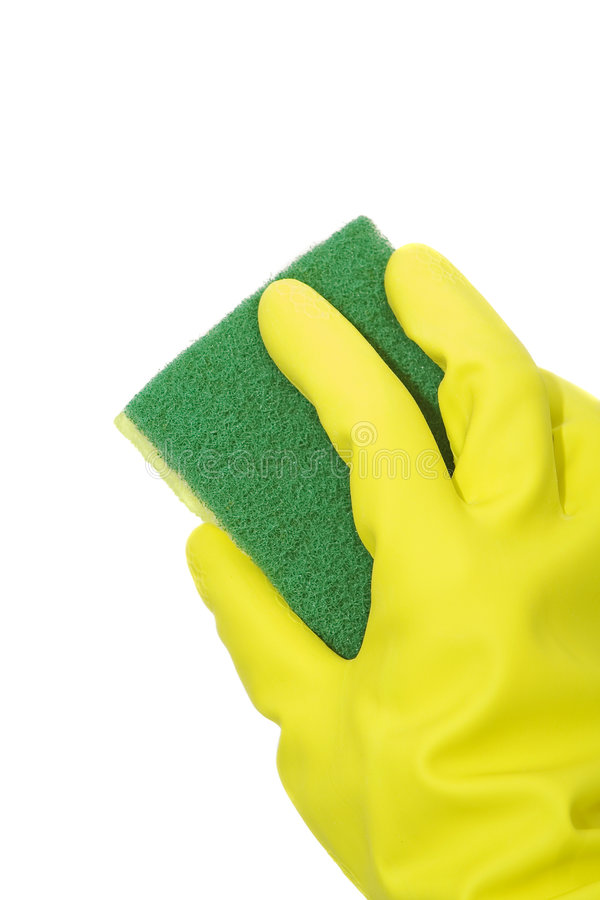 Free Cleaning With Sponge Royalty Free Stock Photography - 5607347