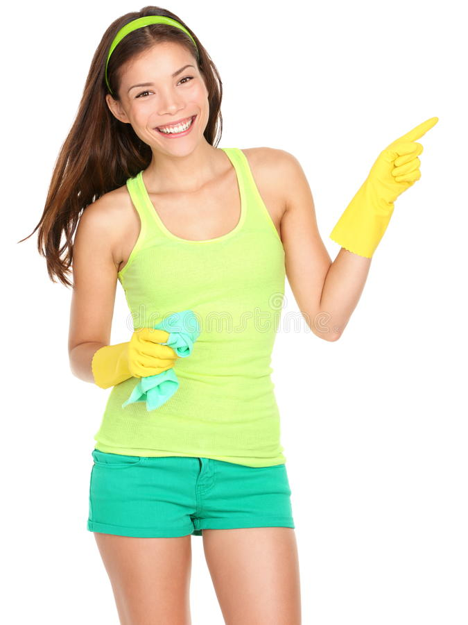 Download Cleaning woman showing stock photo. Image of chores, gesturing - 23410074