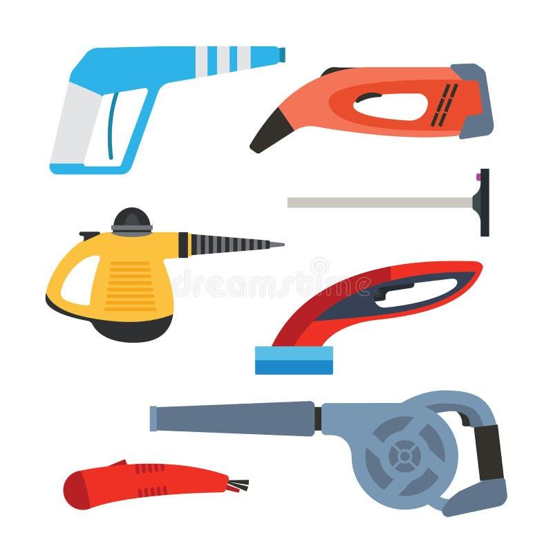 Cleaning wyposażenia wektoru set ilustracji