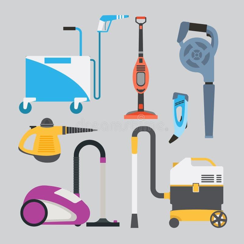 Cleaning wyposażenia wektoru set royalty ilustracja