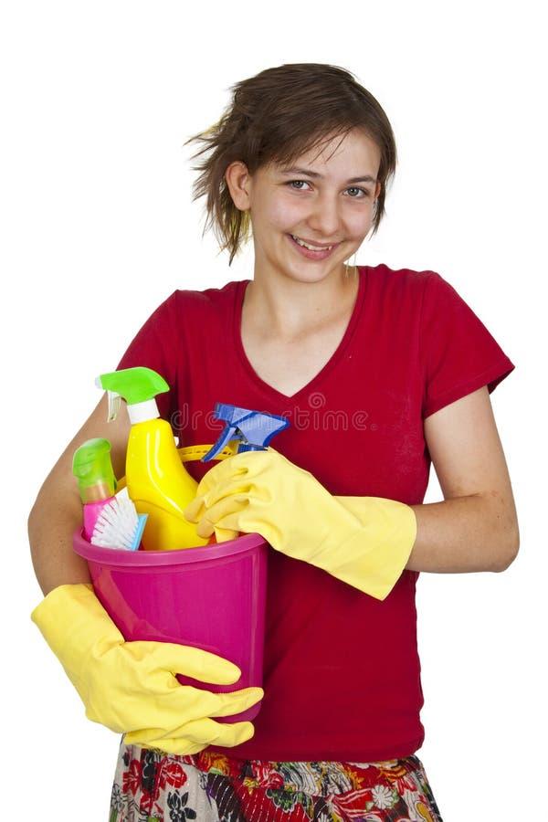 cleaning wytłaczać wzory kobiety zdjęcia stock