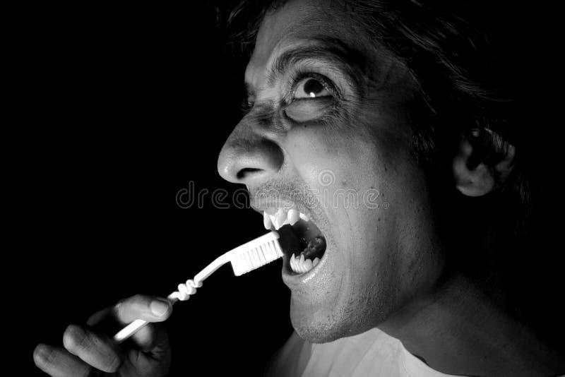 cleaning zębów wampir zdjęcia royalty free