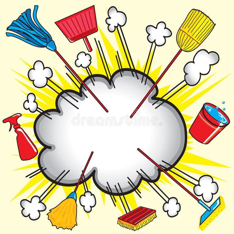 cleaningexplosiontillförsel royaltyfri illustrationer