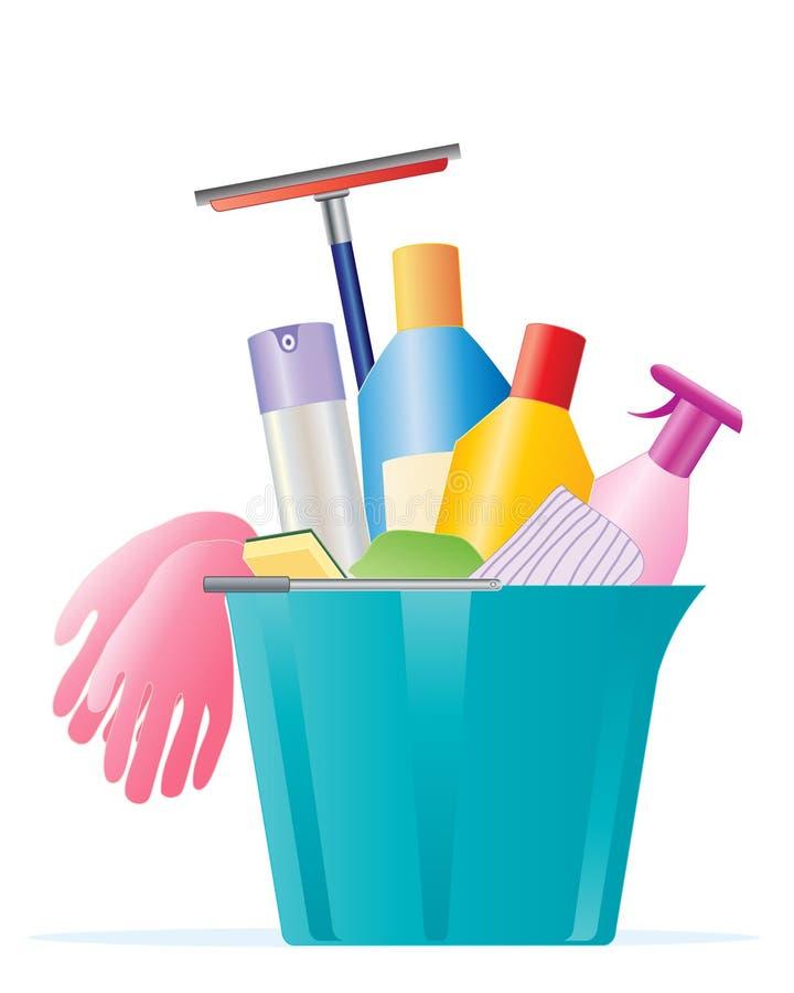 cleaningfjäder stock illustrationer