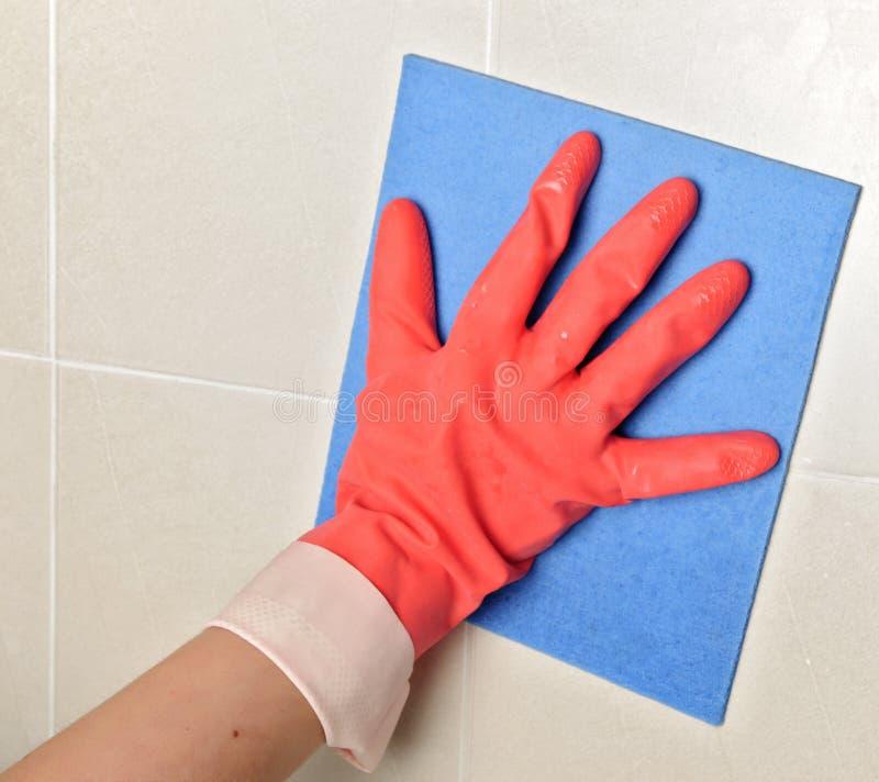 cleaninghandske arkivfoto