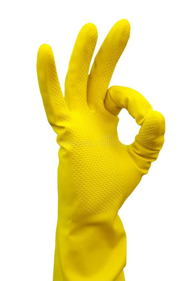 cleaninghandskeframställning royaltyfria foton