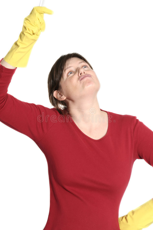 Download Cleaninghemmafru fotografering för bildbyråer. Bild av trött - 503515