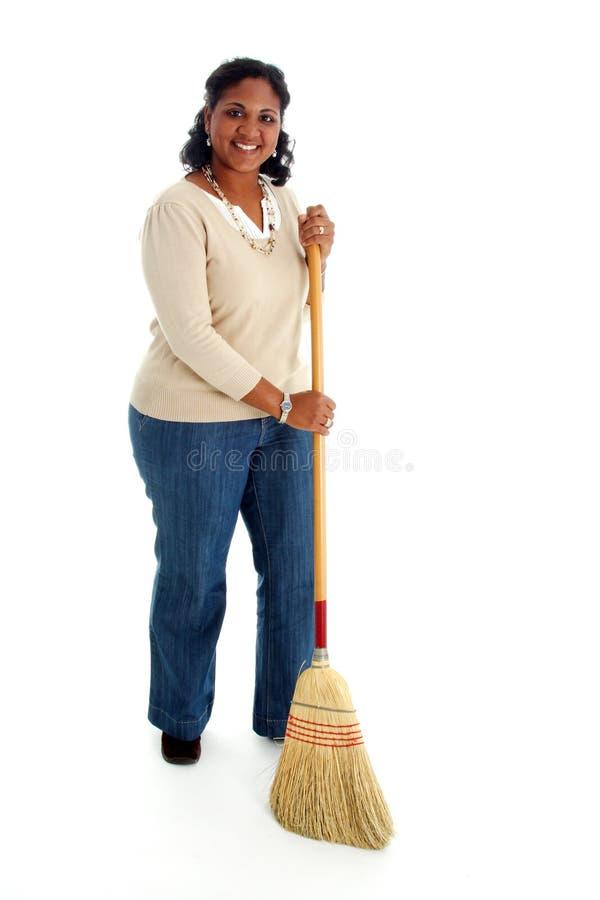 cleaningkvinna royaltyfria bilder