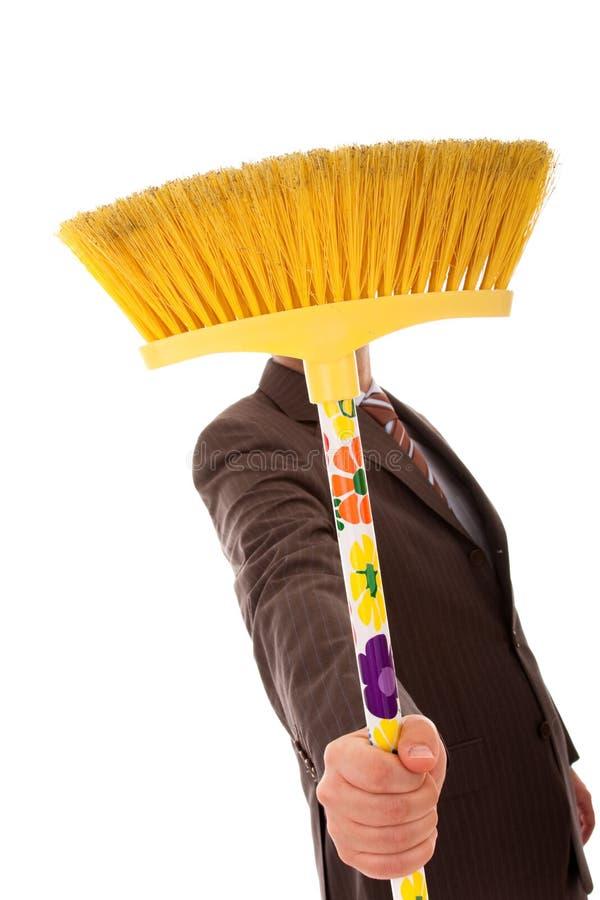 cleaningmän royaltyfria foton
