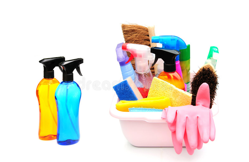 cleaningprodukter arkivfoto