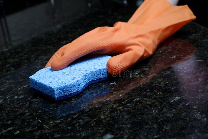cleaningräknare royaltyfri fotografi