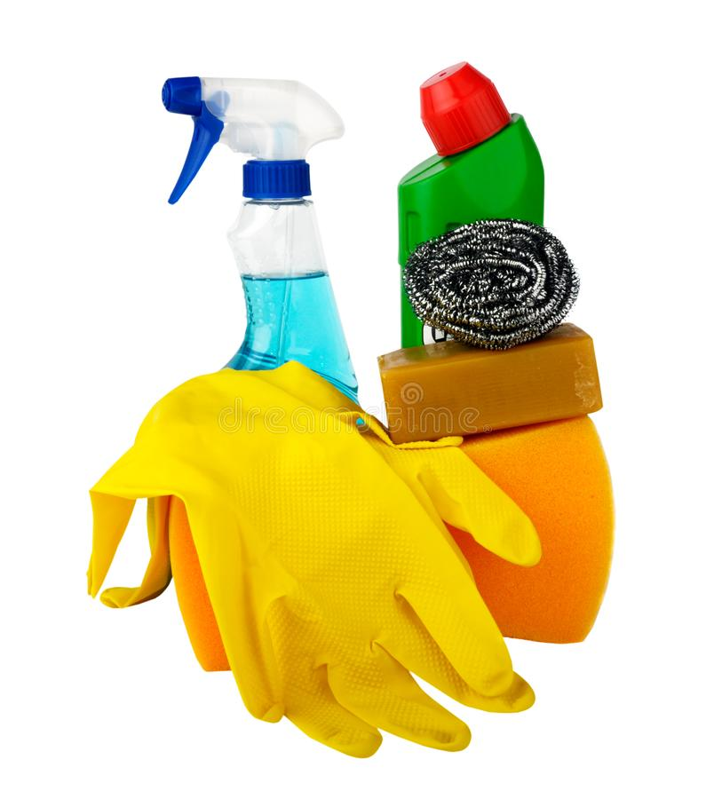 cleaningsats royaltyfria foton