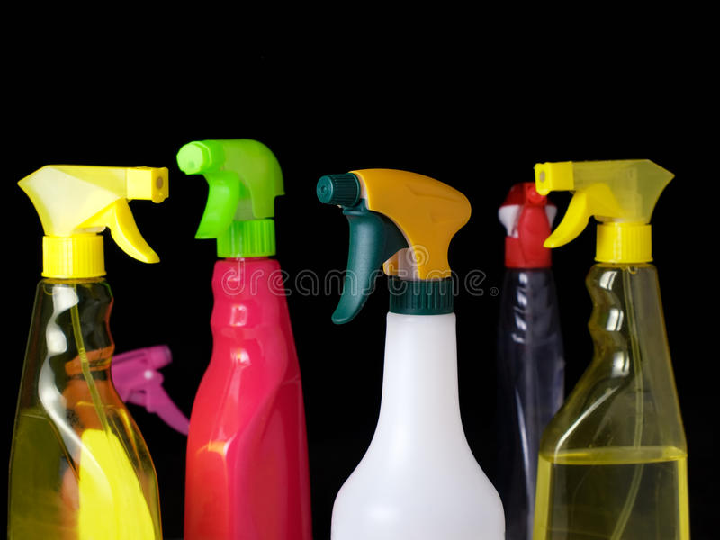 cleaningspray royaltyfri bild