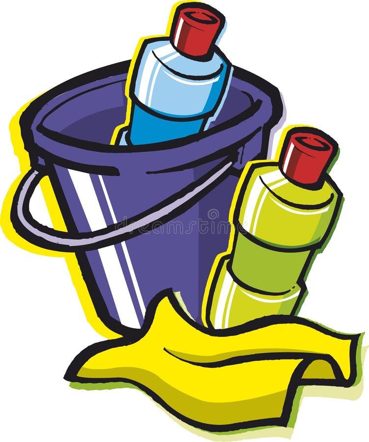 cleaningtillförsel stock illustrationer