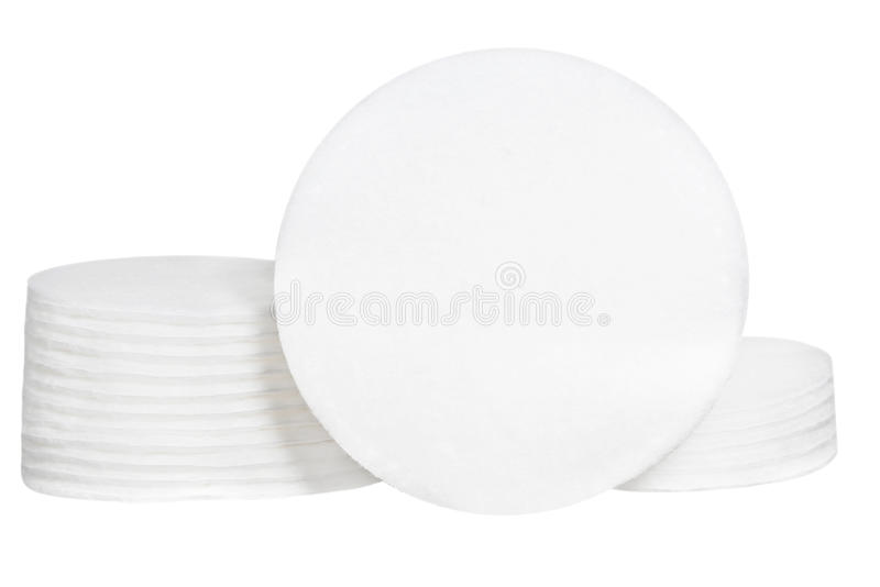 Cleanliness cotton sponges on white background. Design for the beauty, medicine and cosmetics industry royalty free stock image