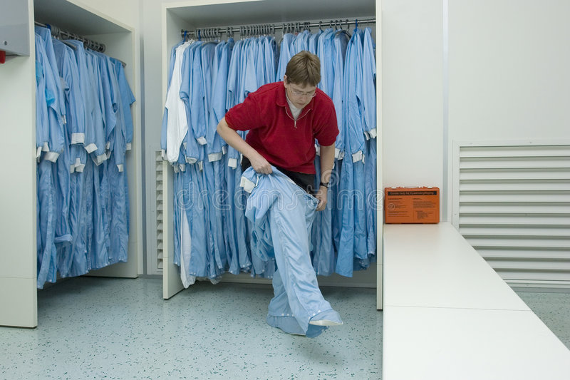 Cleanroom clothing royalty free stock images