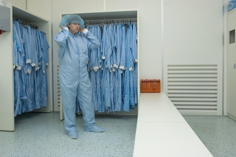 cleanroom odzież obraz stock