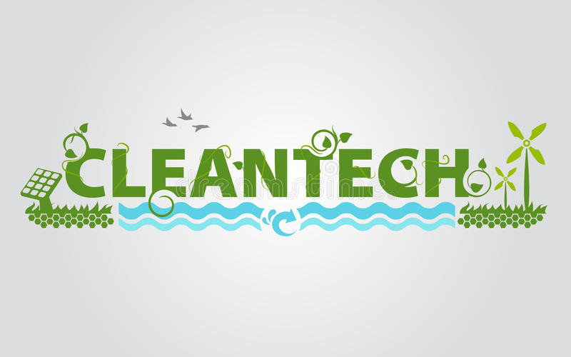 Cleantech eco energy science royalty free illustration