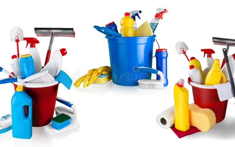 Cleanup. Bucket isolated rubber fluid tool housework royalty free stock image