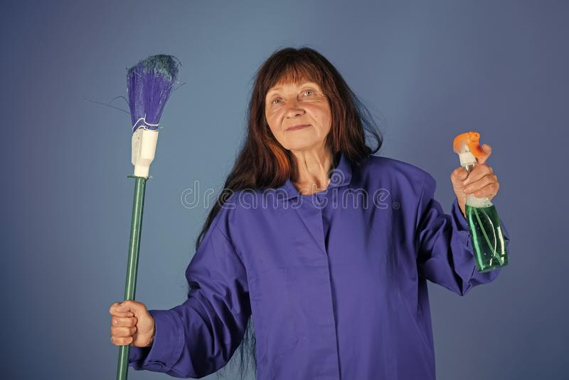 Cleanup and order services. stock images