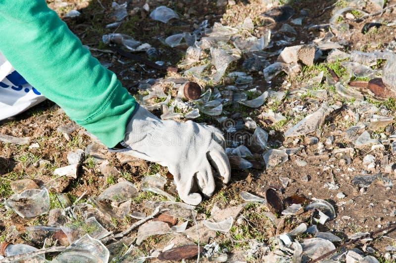 cleanup społeczności park zdjęcie stock