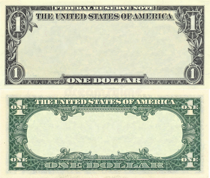 Clear 1 dollar banknote pattern stock photography
