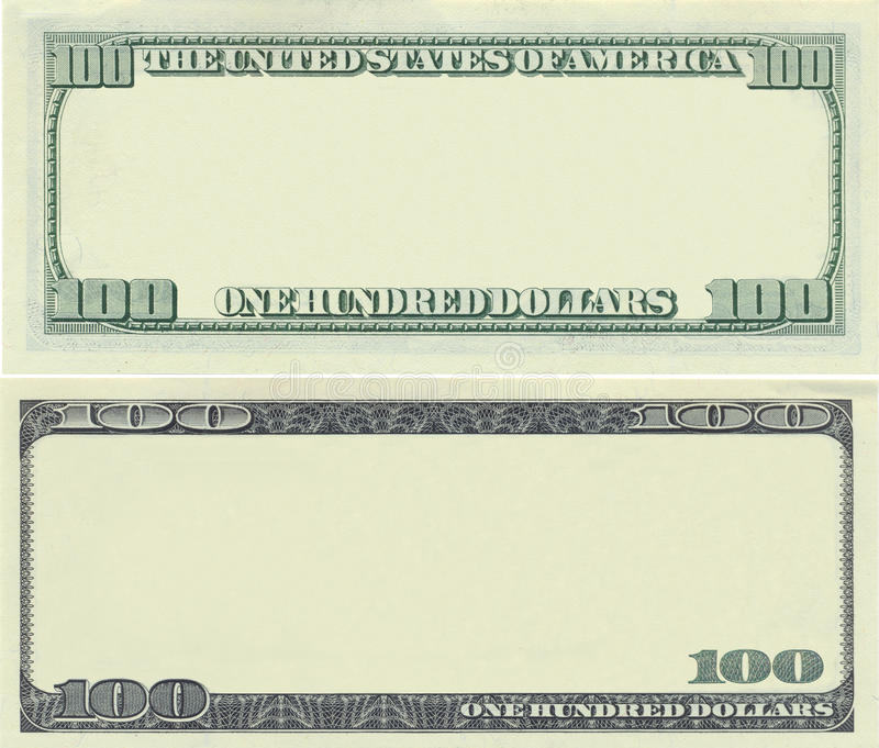 Clear 100 dollar banknote pattern royalty free stock image