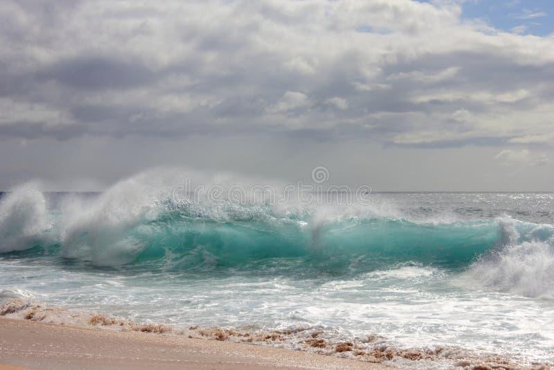Clear Aqua Wave stock photo