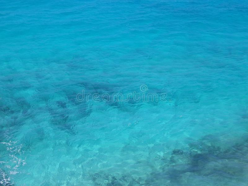 The Clear Blue Sea royalty free stock image