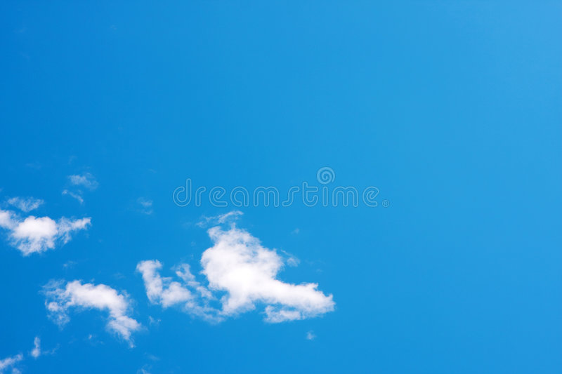 Clear blue sky stock images