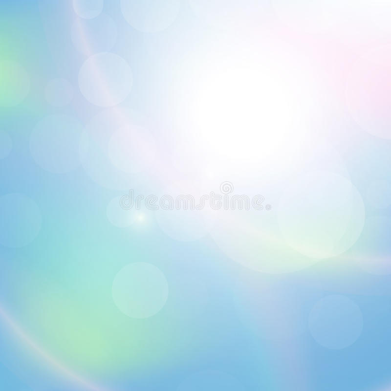 Clear blue sky with clouds abstract background vector illustration