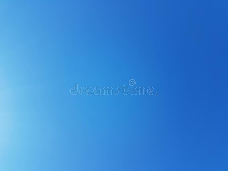 Clear blue sky. Heaven natural background stratosphere backdrop wallpaper nature moisture backgrounds glory meteorology environment environmental clarity royalty free stock images