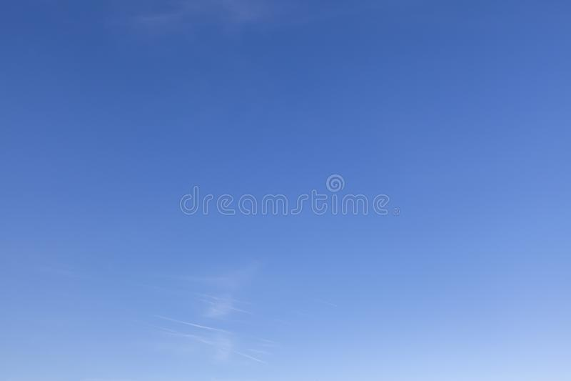 Clear blue sky with a little white cloud 0630 stock image