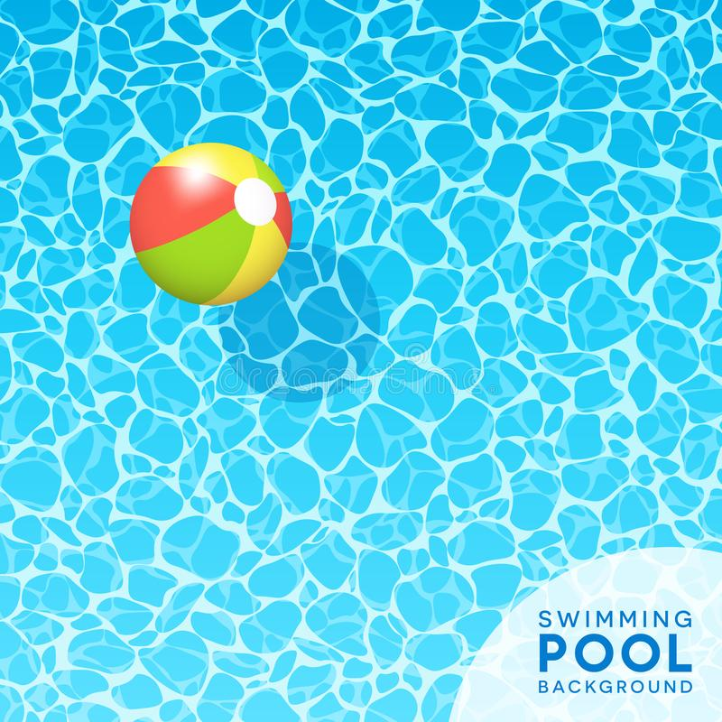 Free Clear Blue Swimming Pool Water Background With Floating Beach Ball Royalty Free Stock Photo - 109428995