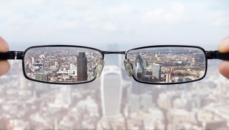 Clear business vision royalty free stock photography